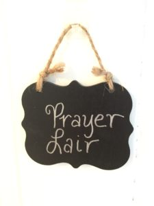 Prayer Lair Mom Cave Sign