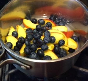 Raw fruit in pot