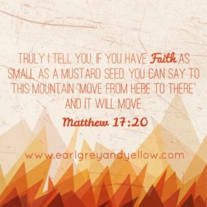 Mustard Seed Faith of a Couch Potato