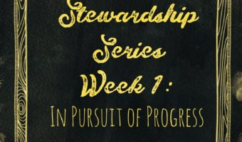 Stewardship Series Week 1: In Pursuit of Progress